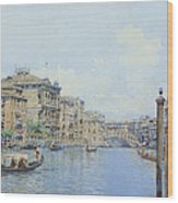 The Grand Canal With A View Of Palace Wood Print