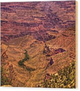 The Grand Canyon From Bright Angel Lodge Wood Print