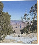 The Grand Canyon In January Wood Print