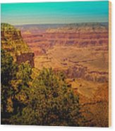 The Grand Canyon Vintage Americana Vii Wood Print