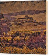 The Grand Canyon Vintage Americana Viii Wood Print