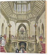 The Grand Staircase, Windsor Castle Wood Print
