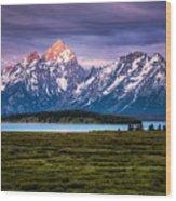 The Grand Tetons mountain range in Wyoming, USA. Wood Print