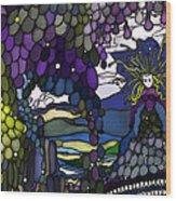 The Grape Arbor Medusa Wood Print by Constance Krejci