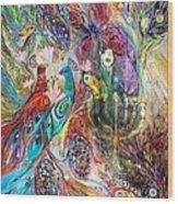 The Grapes And Menorah Wood Print by Elena Kotliarker