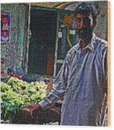 The Grapes Man Wood Print