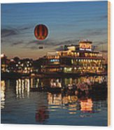 The Great And Powerful Oz Over Downtown Disney Wood Print