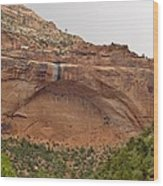 The Great Arch At Zion Natioal Park Wood Print