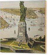 The Great Bartholdi Statue Wood Print