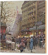 The Great Boulevards Wood Print