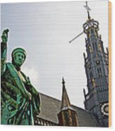The Great Church Of Haarlem Wood Print