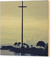 The Great Cross Wood Print