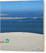 The Great Dune Of Pila In Arcachon Bay Wood Print
