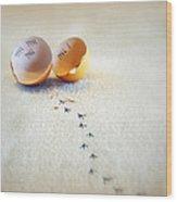 The Great Eggscape Wood Print