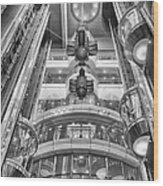 The Great Glass Elevators Wood Print