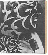 Omi The Great Tattoo Circus Flash Art Wood Print