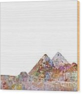 The Great Pyramids Colorsplash Wood Print