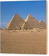 The Great Pyramids Giza Egypt Wood Print