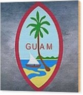 The Great Seal Of Guam Territory Of Usa  Wood Print