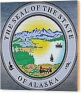 The Great Seal Of The State Of Alaska  Wood Print