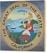 The Great Seal Of The State Of California Wood Print