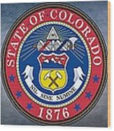 The Great Seal Of The State Of Colorado Wood Print