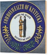 The Great Seal Of The State Of Kentucky  Wood Print