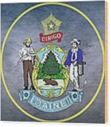 The Great Seal Of The State Of Maine  Wood Print