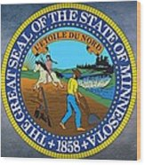 The Great Seal Of The State Of Minnesota Wood Print