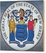 The Great Seal Of The State Of New Jersey Wood Print