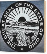 The Great Seal Of The State Of Ohio  Wood Print