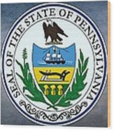 The Great Seal Of The State Of Pennsylvania  Wood Print