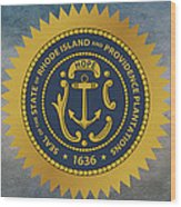 The Great Seal Of The State Of Rhode Island Wood Print