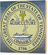 The Great Seal Of The State Of Tennessee Wood Print by Movie Poster Prints