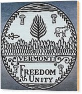 The Great Seal Of The State Of Vermont Wood Print