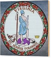 The Great Seal Of The State Of Virginia  Wood Print