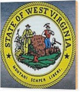 The Great Seal Of The State Of West Virginia Wood Print