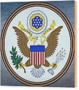The Great Seal Of The United States  Wood Print