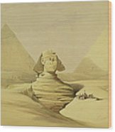 The Great Sphinx And The Pyramids Of Giza Wood Print