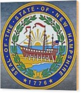 The Great Seal Of The State Of New Hampshire Wood Print