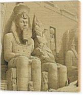 The Great Temple Of Abu Simbel Wood Print