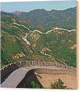 The Great Wall At Badaling In Beijing Wood Print