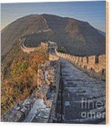 The Great Wall Of China Mutianyu China Wood Print