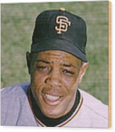 The Great Willie Mays Wood Print