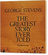 The Greatest Story Every Told, Us Wood Print
