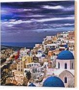 The Greek Isles Santorini Wood Print