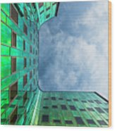 The Green Building Wood Print