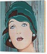 Green Cloche Wood Print