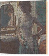 The Green Dress, 1908-09 Wood Print