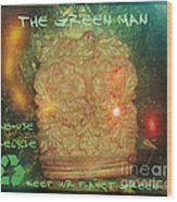 The Green Man - Recycle Wood Print